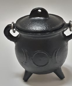 Triple Moon Pot Belly Cauldron