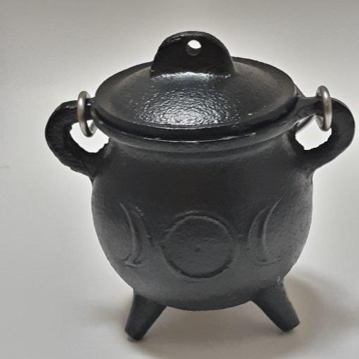 Triple Moon Pot Belly Cauldron