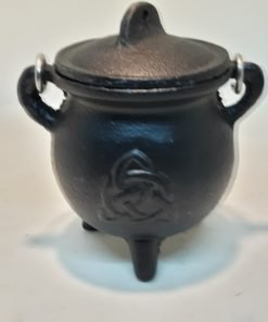Pot Belly Cauldron w/ Triquetra Symbol