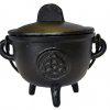 Cast Iron Triquetra Cauldron